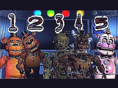 Видеоклип The Living Tombstone's FNaF 1, 2, 3, 4, Sister Location REMIXES | Five Nights at Freddy's