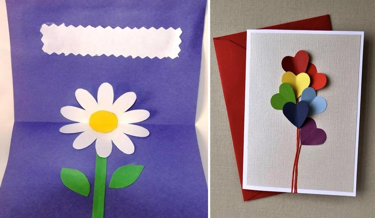 Другу днем, как сделать из бумаги открытку на день рождения бабушке